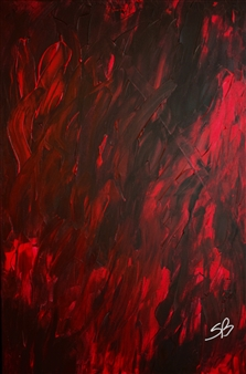 Sylvain Boisjoly - Inferno Acrylic on Canvas, Paintings