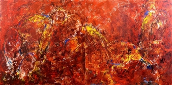 Vasant Dora - Untitled Oil on Canvas, diptych, Paintings