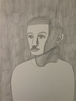 Aaron Cristofaro - Portrait Drawing 88 Graphite on Paper, Drawings