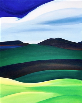Rebecca Stenn - Holt's Ledge Acrylic on Canvas, Paintings