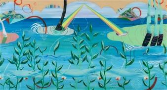 Jennifer Valenzuela - United in Aloha Oil on Canvas, Paintings