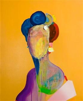 Kazusa Matsuyama - -Anonymous Portrait 07- Acrylic on Canvas, Paintings