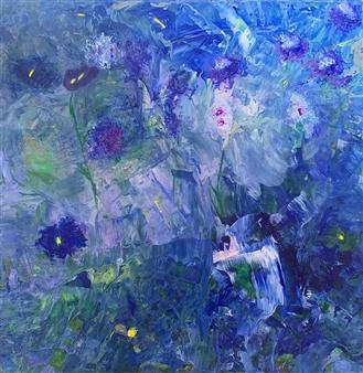 Jodi DeCrenza - Deep Blue Dream Acrylic on Canvas, Paintings