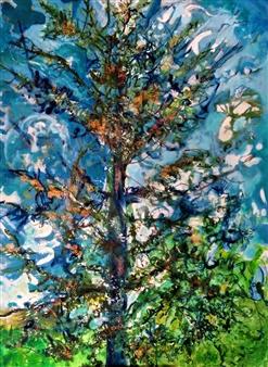 Elena Gastón Nicolás - Cedro del Líbano. Atlas Cedar. Acrylic on Canvas, Paintings