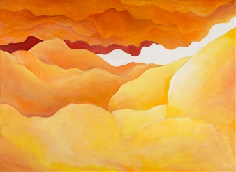 Jerry Anderson - Dunes Acrylic on Canvas, Paintings