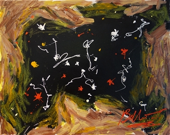 Ed Belbruno - Clearing II Acrylic & Oil Stick on Canvas, Paintings