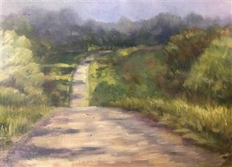 Pauli Zmolek - The Road Oil on Canvas, Paintings