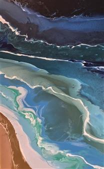 Michael Ocepek - Adrift Acrylic on Canvas, Paintings