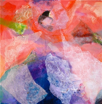 Wendy Yeager - Drifting Mixed Media on Canvas, Mixed Media