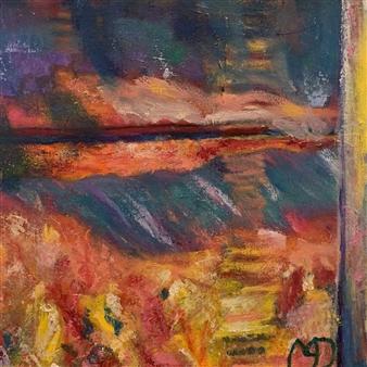 Marianne AuBuchon Devitt - Red at Night Oil on Canvas, Paintings