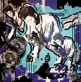 Nancy Landauer - Say It Loud Acrylic & Mixed Media on Canvas, Mixed Media