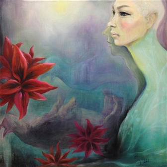 YoungHee Woo - Eyes 6 Oil on Canvas, Paintings