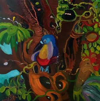 Mira Seeman - The Bird Oil on Canvas, Paintings