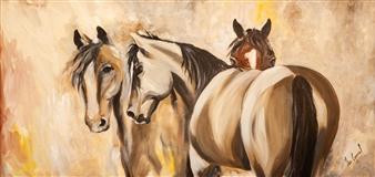 Francisco Coronel Gándara - Untitled #8 Oil on Wood, Paintings