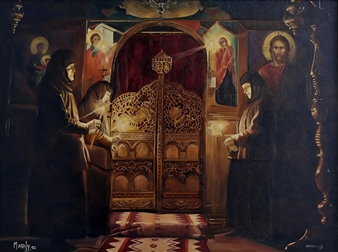 Marily - Monastery Oil on Canvas, Paintings