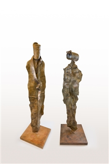 Anita Birkenfeld - He and She 1 Bronze, Sculpture