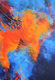 Ingrid Strecker - Sound of Music 3 Acrylic on Canvas, Paintings