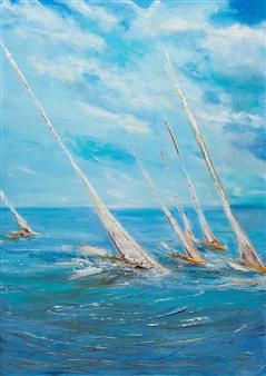 Arttiana - Race Oil on Canvas, Paintings