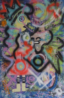 Lisa Gehres - Different Minds Acrylic & Spraypaint on Canvas, Paintings