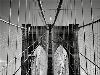 Moving Elephant by Mark - NYC Brooklyn Bridge Silver Gelatin Print, Photography