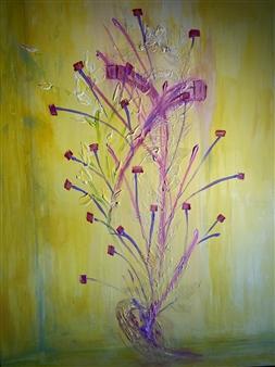 Michael Ocepek - Yellow Room Acrylic on Canvas, Paintings