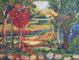Mira Seeman - Trees Oil on Canvas, Paintings