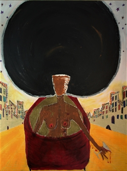 Fernando Magdaleno - Life in '72 Acrylic, oilstick on Canvas, Mixed Media
