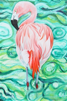 Pamela Sullivan - Are You Checking Out My Feathers? Oil on Canvas, Paintings