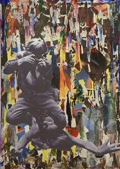 Nello Petrucci - Responso Collage on Canvas, Mixed Media