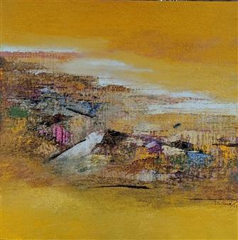 Madhuri Bhaduri - Horizons 3 Oil on Canvas, Paintings