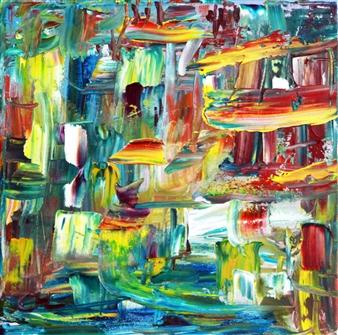 Christine Lückmann - The City Oil on Canvas, Paintings
