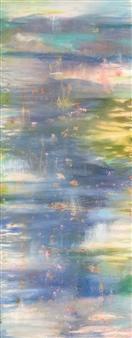 Jodi DeCrenza - Tranquil Mist Acrylic & Oil on Canvas, Paintings