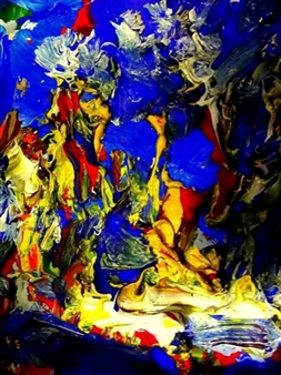 Babis (Bujar) Arizi - Untitled 4 Oil on Canvas, Paintings