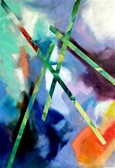 Eric Carter - Underlay Acrylic & Oil on Canvas, Paintings