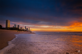 Mireille Pizzo - Dramatic Skies Photograph on Metallic Paper, Photography