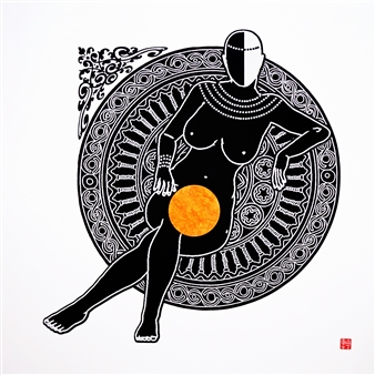 Linda Behar - Queen I Woodblock Print, Prints