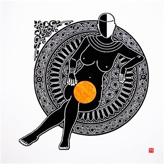 Linda Behar - Queen I Woodblock Print, Prints