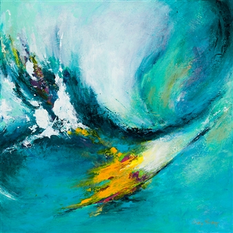 Cindy Parsley - Unleashed Acrylic on Canvas, Paintings