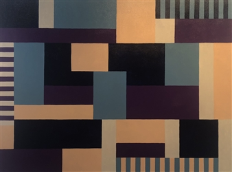 Roberta Caviglia - Playful Geometry #1 Acrylic on Canvas, Paintings