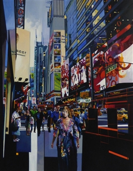 Josep Francés Anaya - Icara in New York Oil on Canvas, Paintings