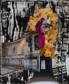 Evelyna Helmer - Dream Rooms no. 10 - Ambiguous Loss Collage & Mixed Media on Paper, Mixed Media