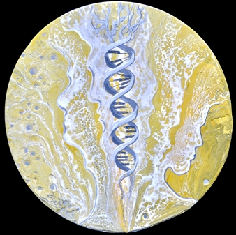 SirK - DNA Acrylic on Canvas, Paintings