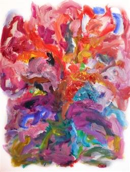 Susan Marx - Cherry Tree Acrylic on Canvas, Paintings