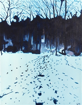 Gabriella Mirabelli - Park in the Trails Winter Acrylic on Canvas, Paintings