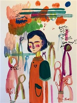 Milana Alaro - Emotions Gouche on Paper, Paintings
