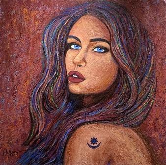 Hayam Elsayed - Harmony Acrylic on Canvas, Paintings