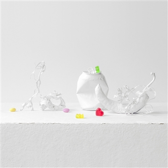 Art Golacki - Still Life in White with Heart And Sweets / second variation Archival Pigment Print, Photography
