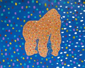 Carlos E. Porras M. - Dino Acrylic on Canvas, Paintings