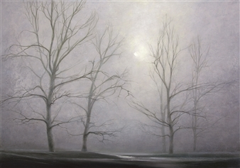 Bekir Smolski - Foggy Mood Oil on Canvas, Paintings