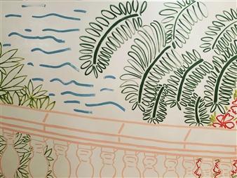 Jolie Dueñas - Terraza Acrylic on Canvas, Paintings